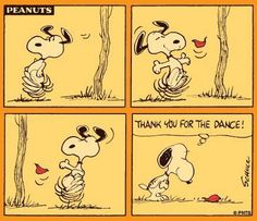 snoopy leaf dance